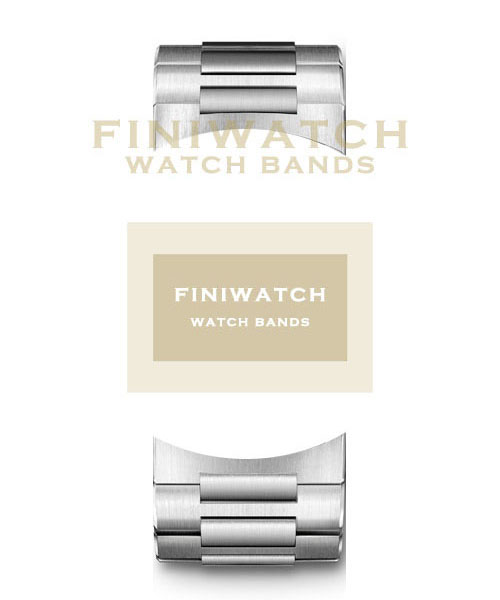 Bandas de acero inoxidable 316L FINIWatches FA0001
